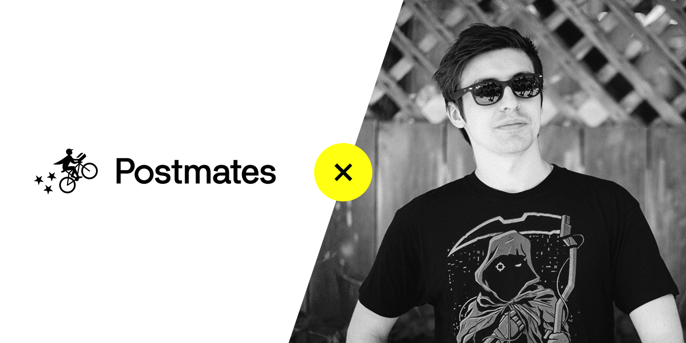 "Popular gamer Michael Grzesiek, also known as ""Shroud,"" partnered with Postmates and offered free delivery credits with a special code. He is pictured here wearing sunglasses and his reaper tee (which fans can buy)."