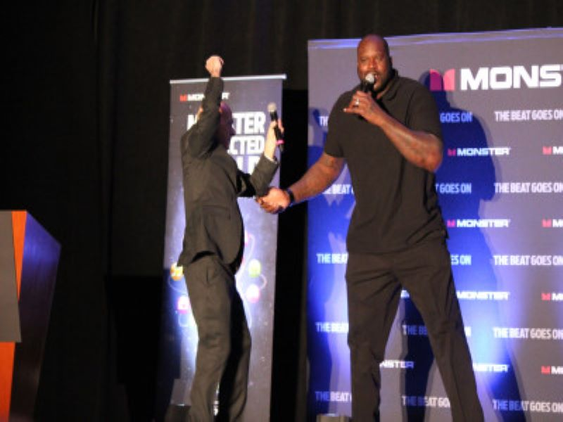 Sport celebrity Shaq on stage at an esports event