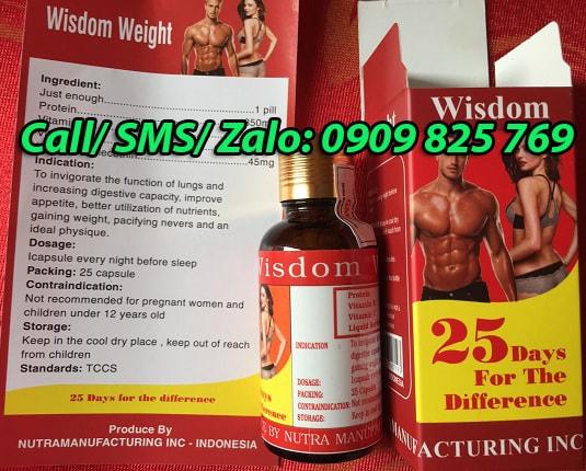 Mua thuốc tăng cân Wisdom Weight tại Long An