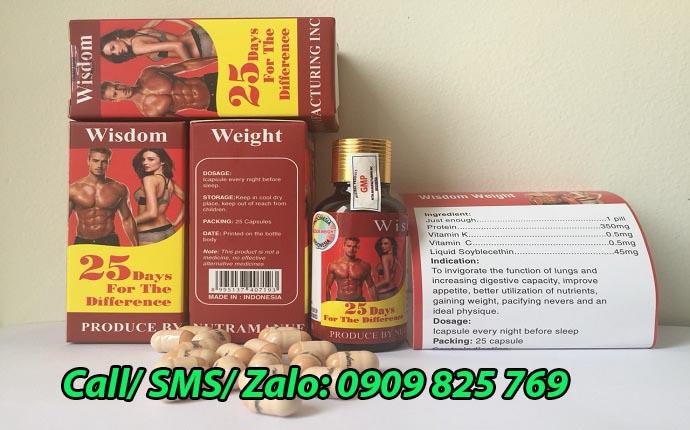 Thuốc tăng cân Wisdom Weight mua ở đâu tại Đồng Nai