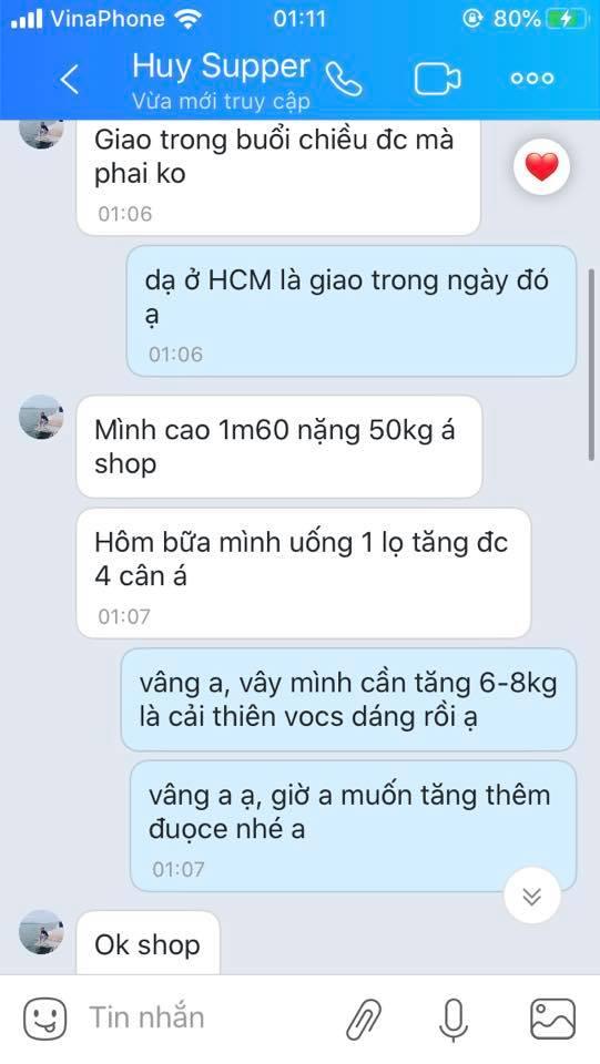 Phản hồi về thuốc tăng cân 2
