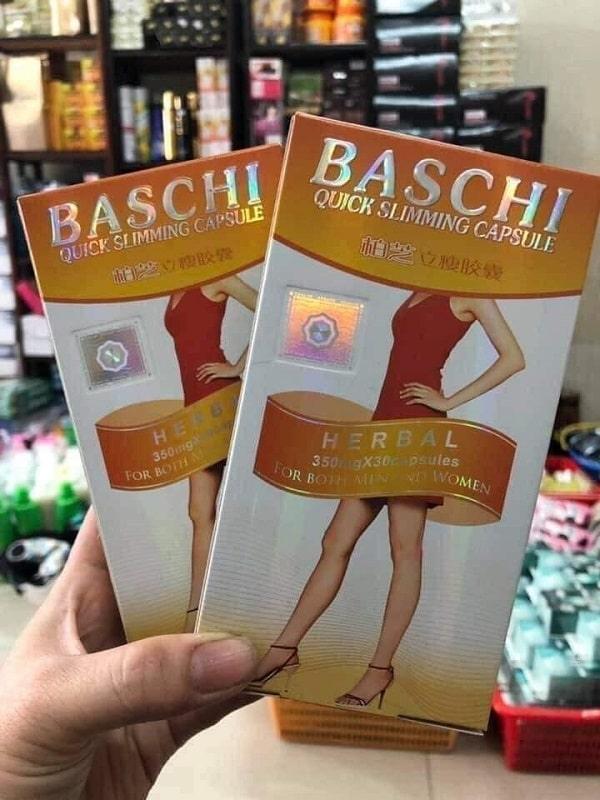 Phân biệt thuốc giảm cân Baschi cam thật và giả qua hình ảnh