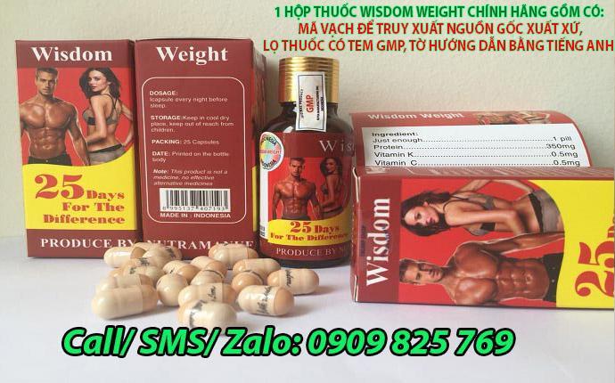 Thuốc tăng cân Wisdom Weight Chính Hãng