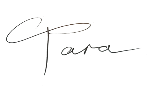 handwritten Tara signature