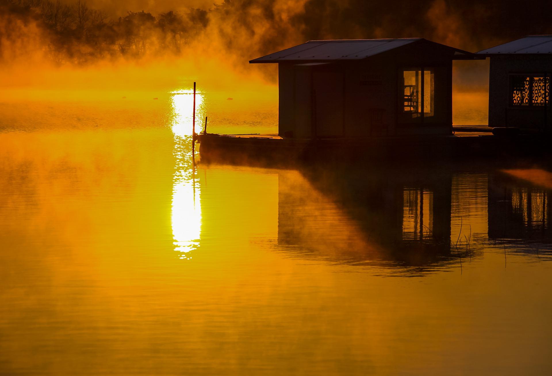 Sunrise https://pixabay.com/photos/sunrise-morning-lake-nature-light-5460494/