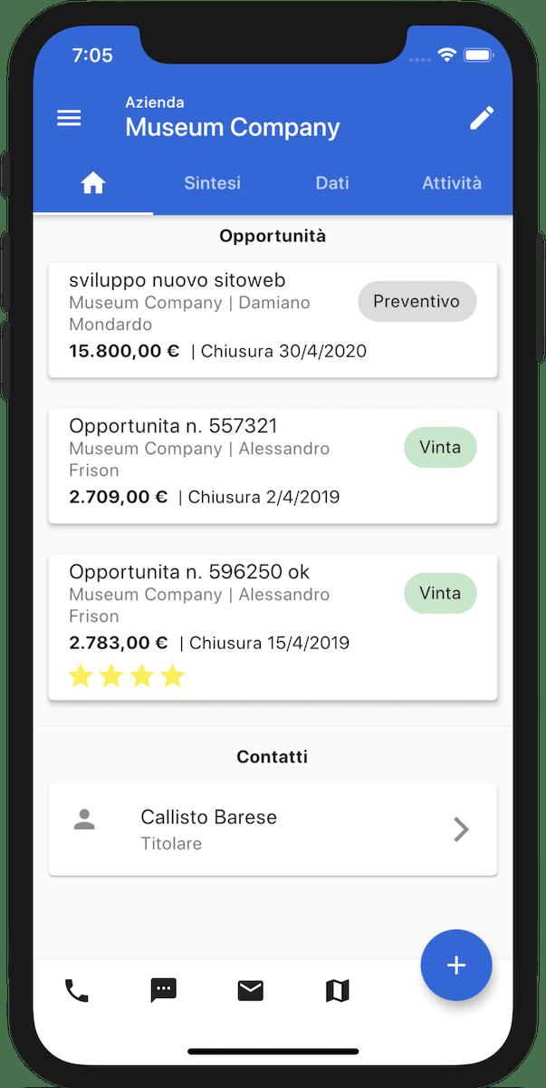 App mobile per gestione opportunità di vendita