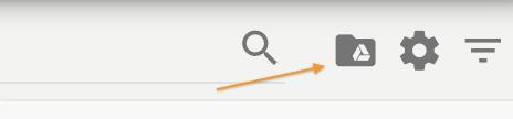 Icona export Google Drive