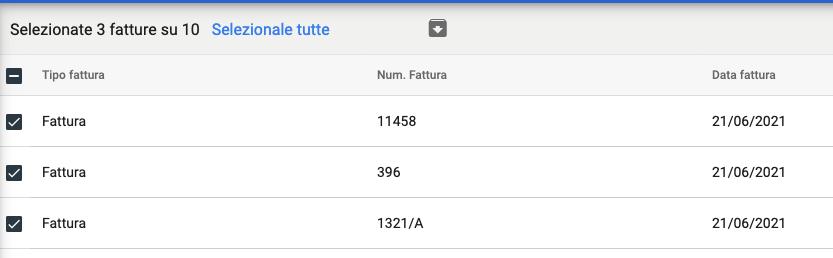 Download Fatture Acquisto in formato XML