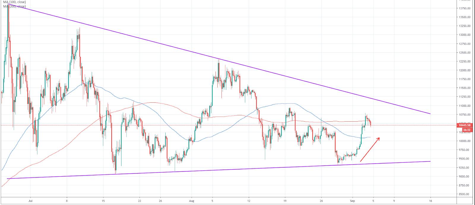 BTC/USD signal generator