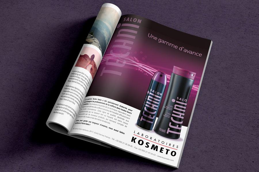 """packaging et publicité """"Kosmeto"""""""