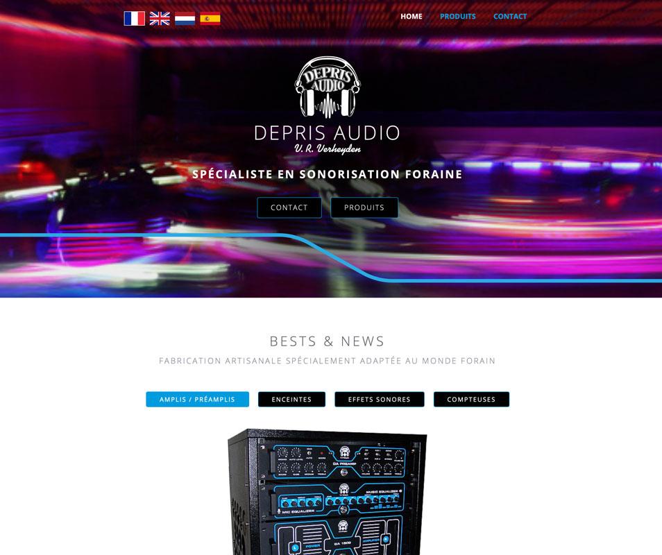 """site internet """"depris audio"""""""