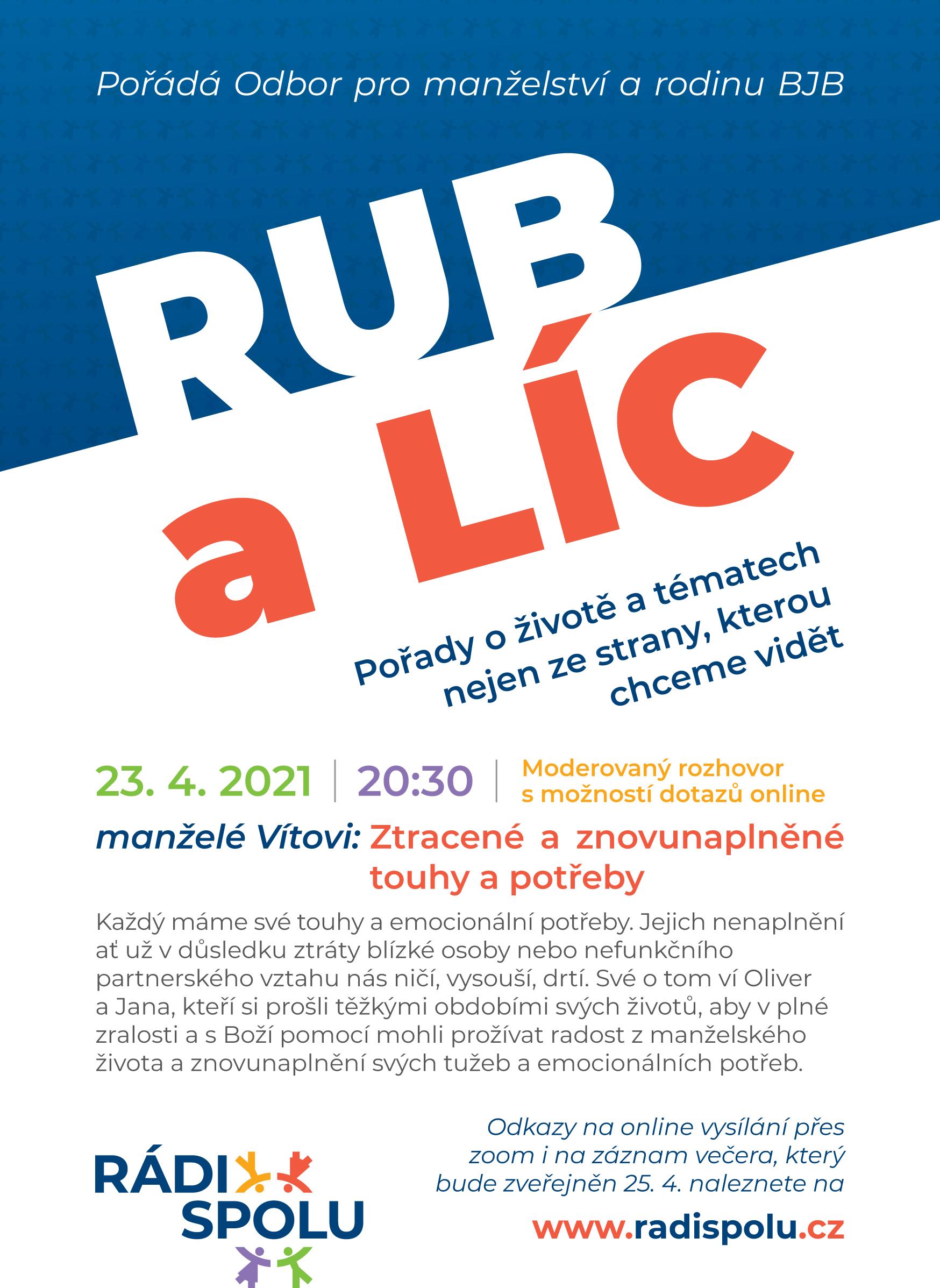 RUB A LÍC - online vysílání Odboru pro manželství a rodinu