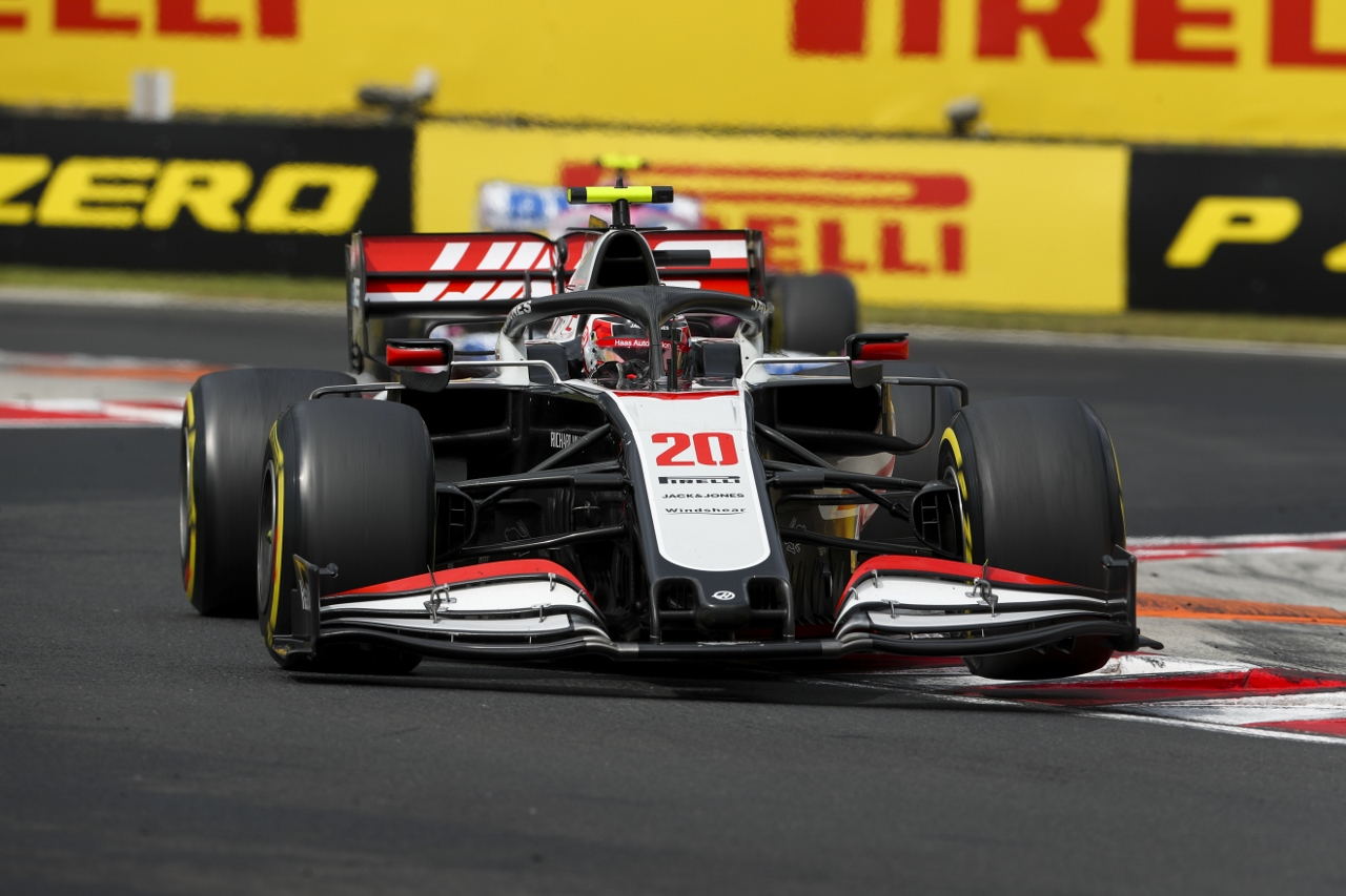 Haas F1 Team driver Kevin Magnussen competing in the Hungarian Grand Prix Credit LAT Photo