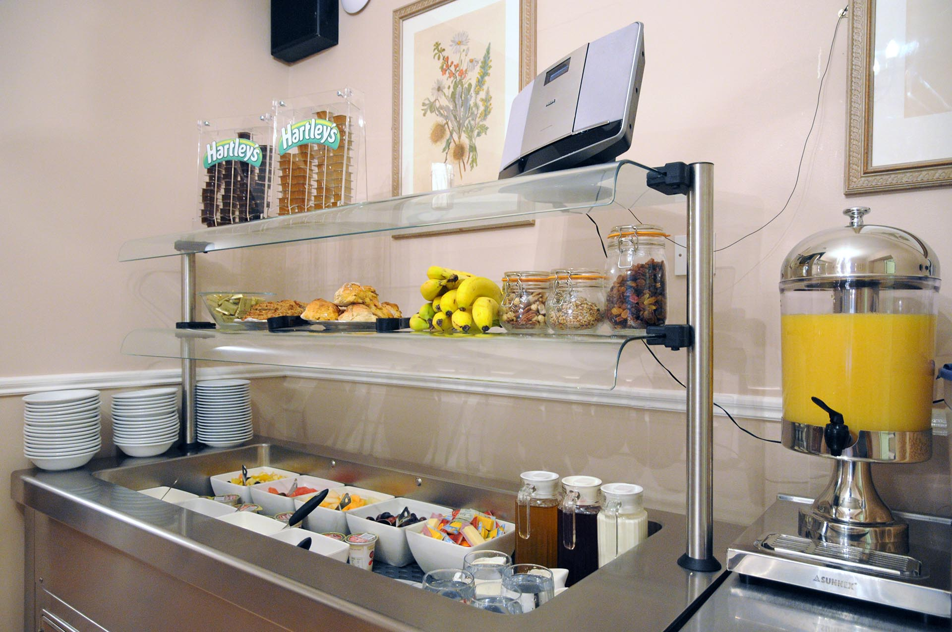 buffet at Barr na Sraide B&B and family hotel. Enjoy a variety of hot and cold foods prepared freshly everyday