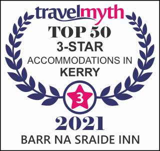Travel Myth Top 50 3 Star Accommodation in Kerry Award icon