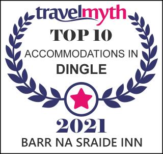 Travel Myth Top 10 Accommodation in Dingle Award icon