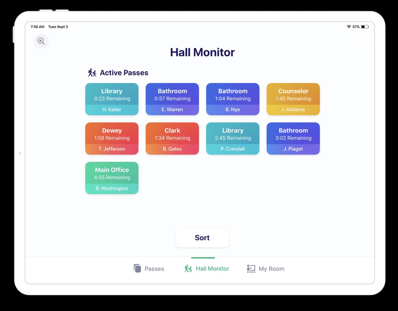 SmartPass Teacher Hall Monitor iPad