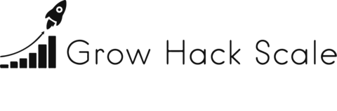 grow hack scale logo in dark grey