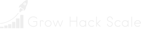 Grow Hack Scale's white logo
