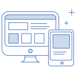 web mobile application icons - search engine optimisation services