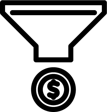 pricing funnel icon