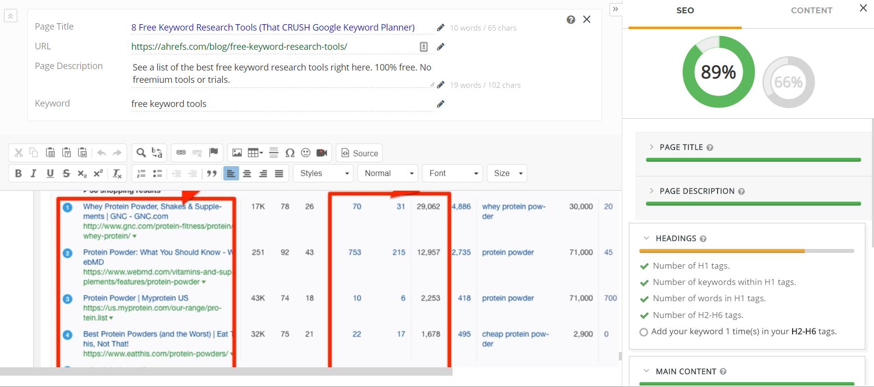webtexttool competitor analysis - SEO Toolkit