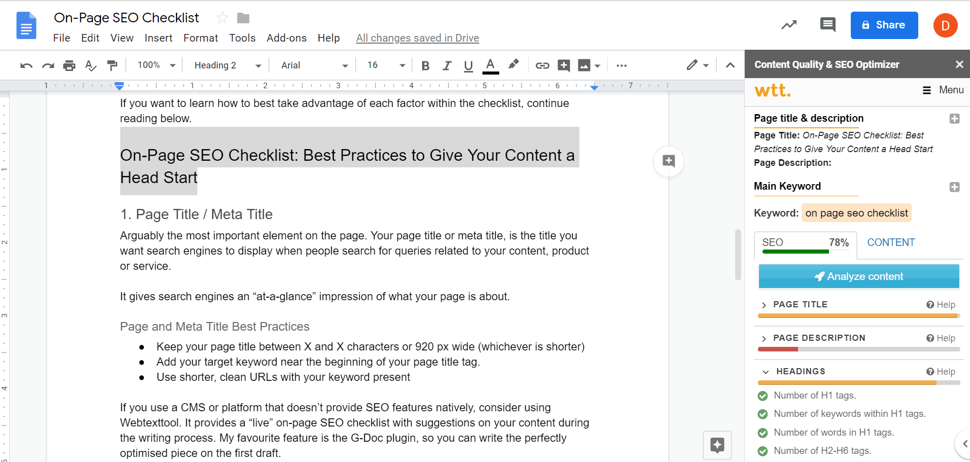 On-Page SEO Checklist: Best Practices to Get Your Content a Head Start