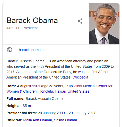 screenshot barack obama - schema markup
