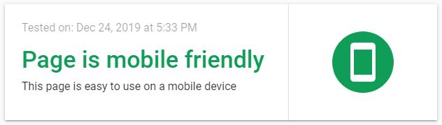 screenshot positive message - mobile responsiveness