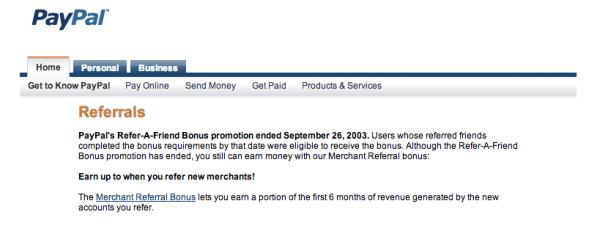 screenshot paypal - referral marketing
