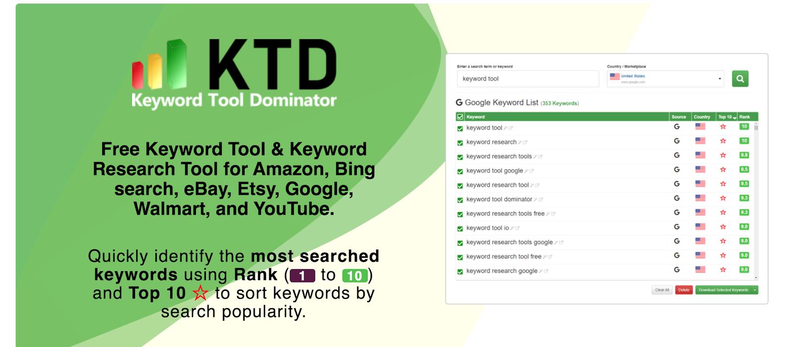 Keyword Tool Dominator - Best Free Keyword Research Tools