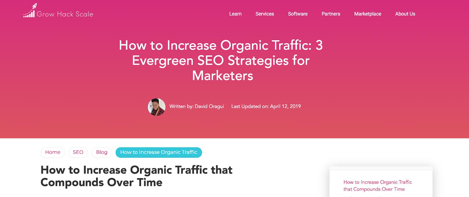 Boost traffic with Google freshness algorithm