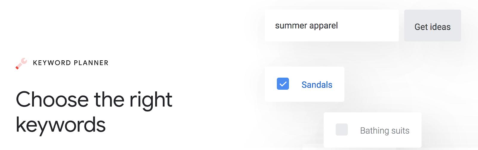 Google Adwords Keyword Planner Landing Page