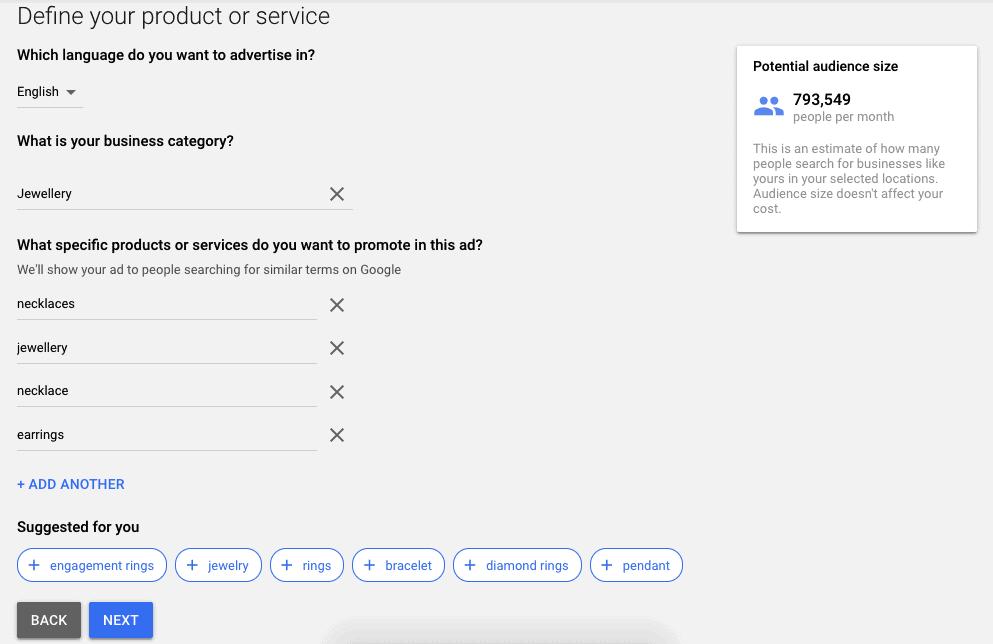 goggle keyword planner image