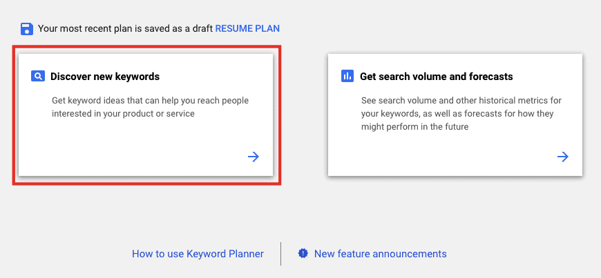 How to Use Google Keyword Planner1