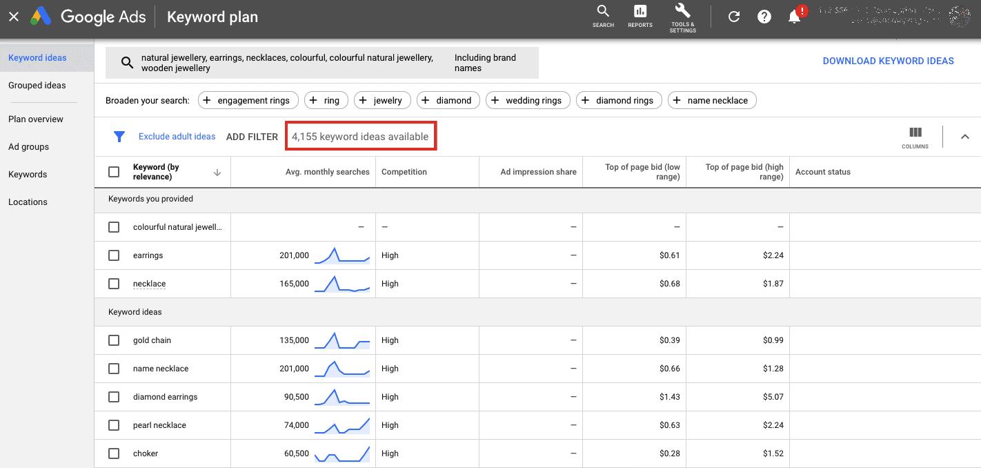 Beginners guide on google keyword planner
