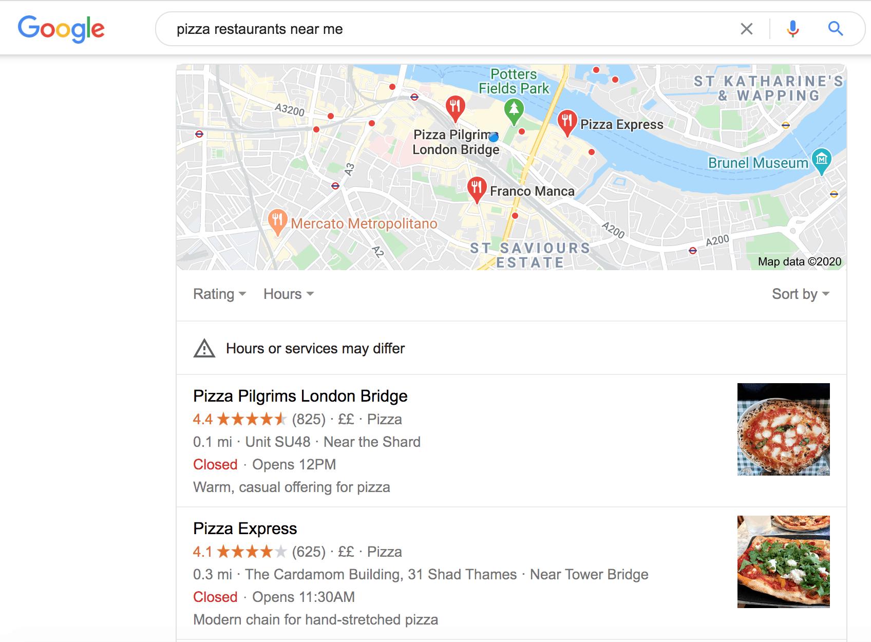 Google near me searches