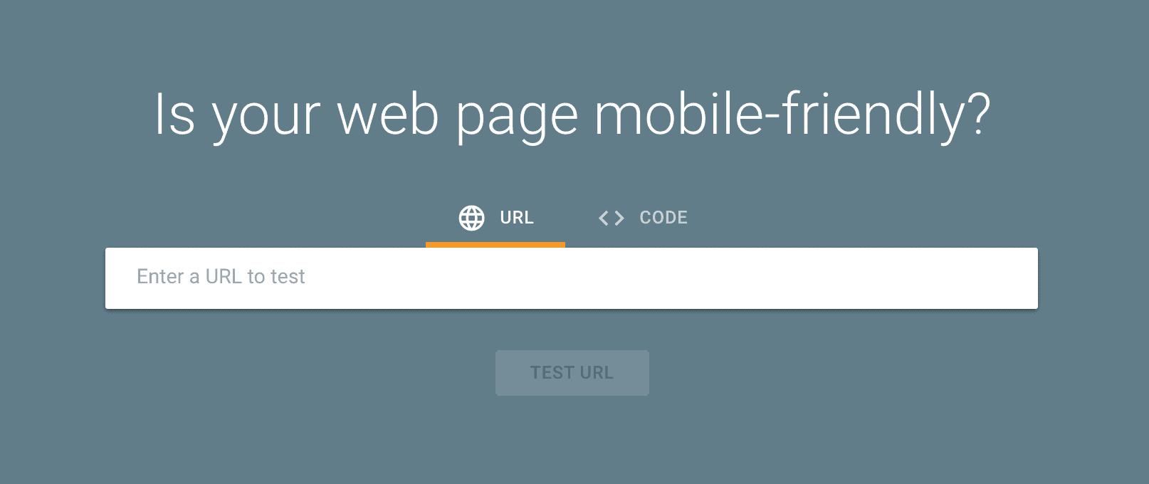 A screenshot of Google's free mobile testing tool