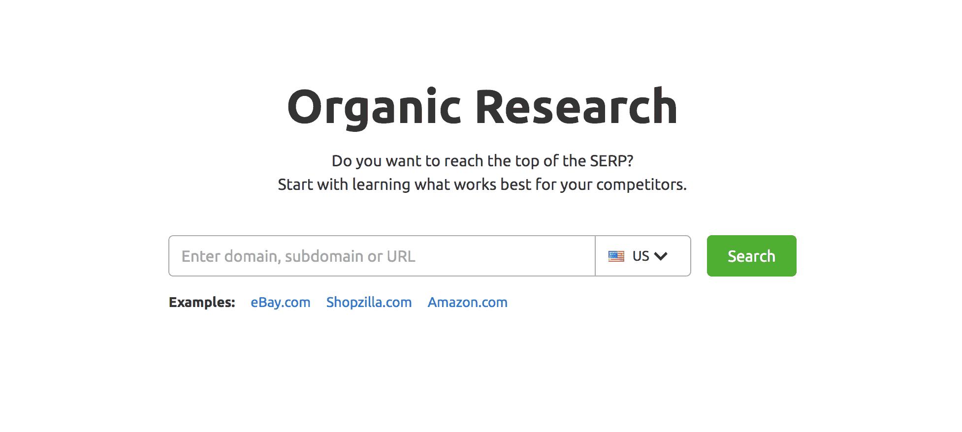 A screenshot of SEMRush organic research