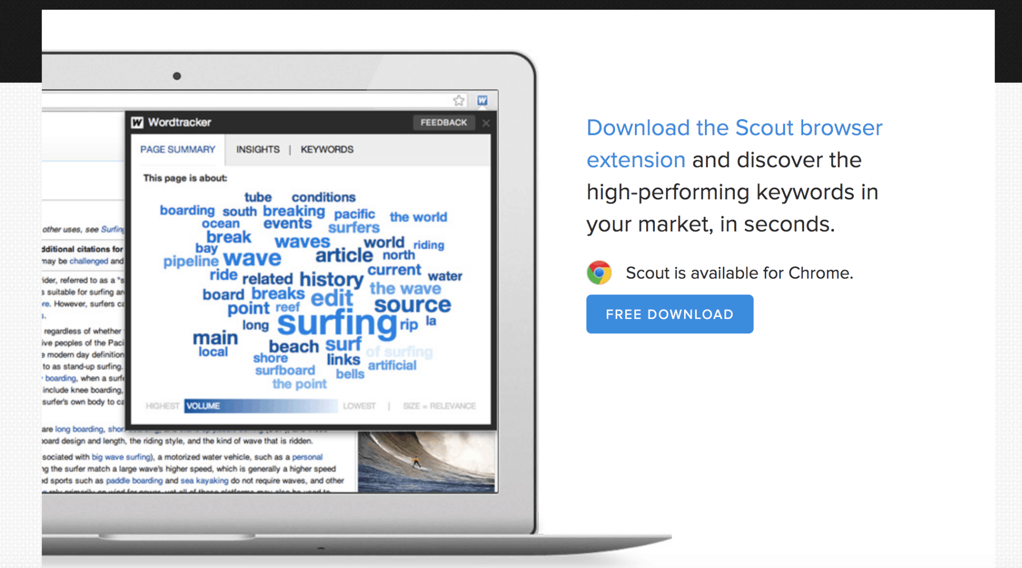 Wordtracker Scout Landing Page Snippet