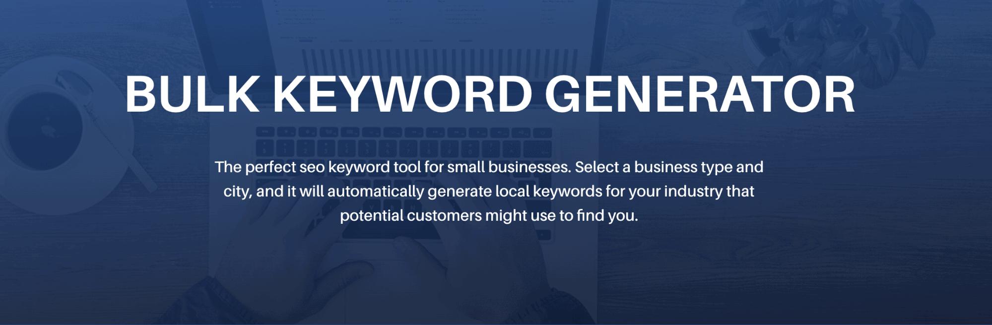 Bulk Keyword Generator Landing Page Snippet