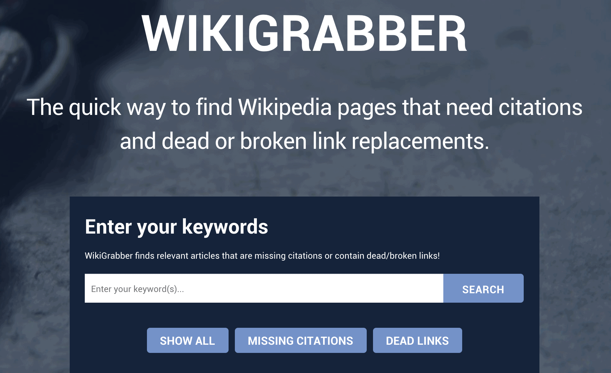 Wikigrabber WIkipedia backlinks organic traffic