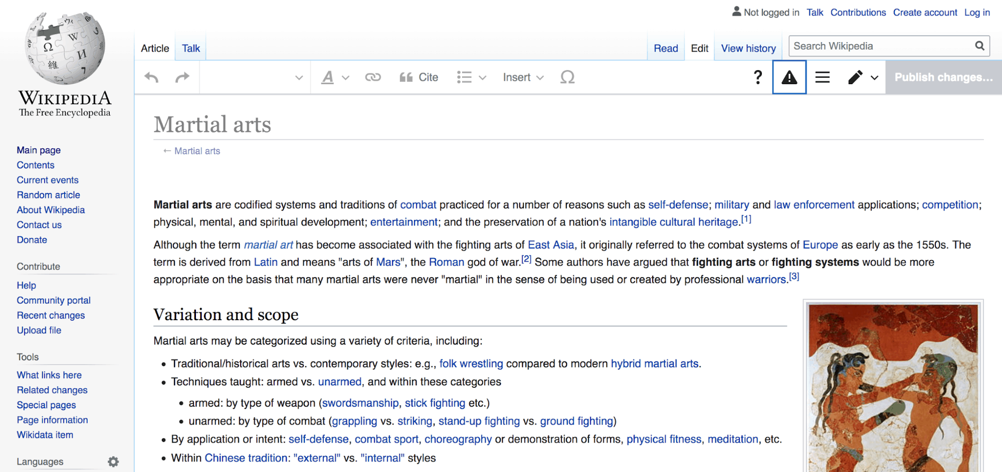 Wikipedia Backlinks to boost organic traffic martial arts