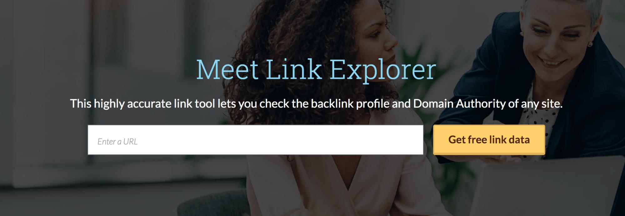 Moz-Link Explorer Landing Page Snippet
