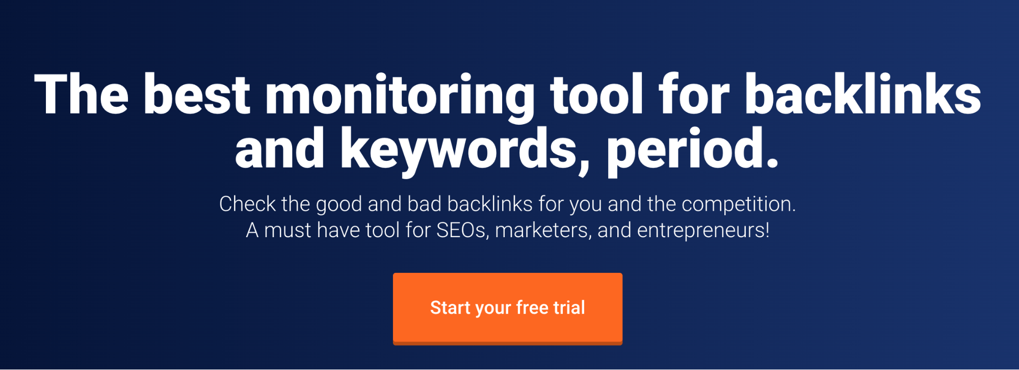 Monitor Backlinks Landing Page Snippet