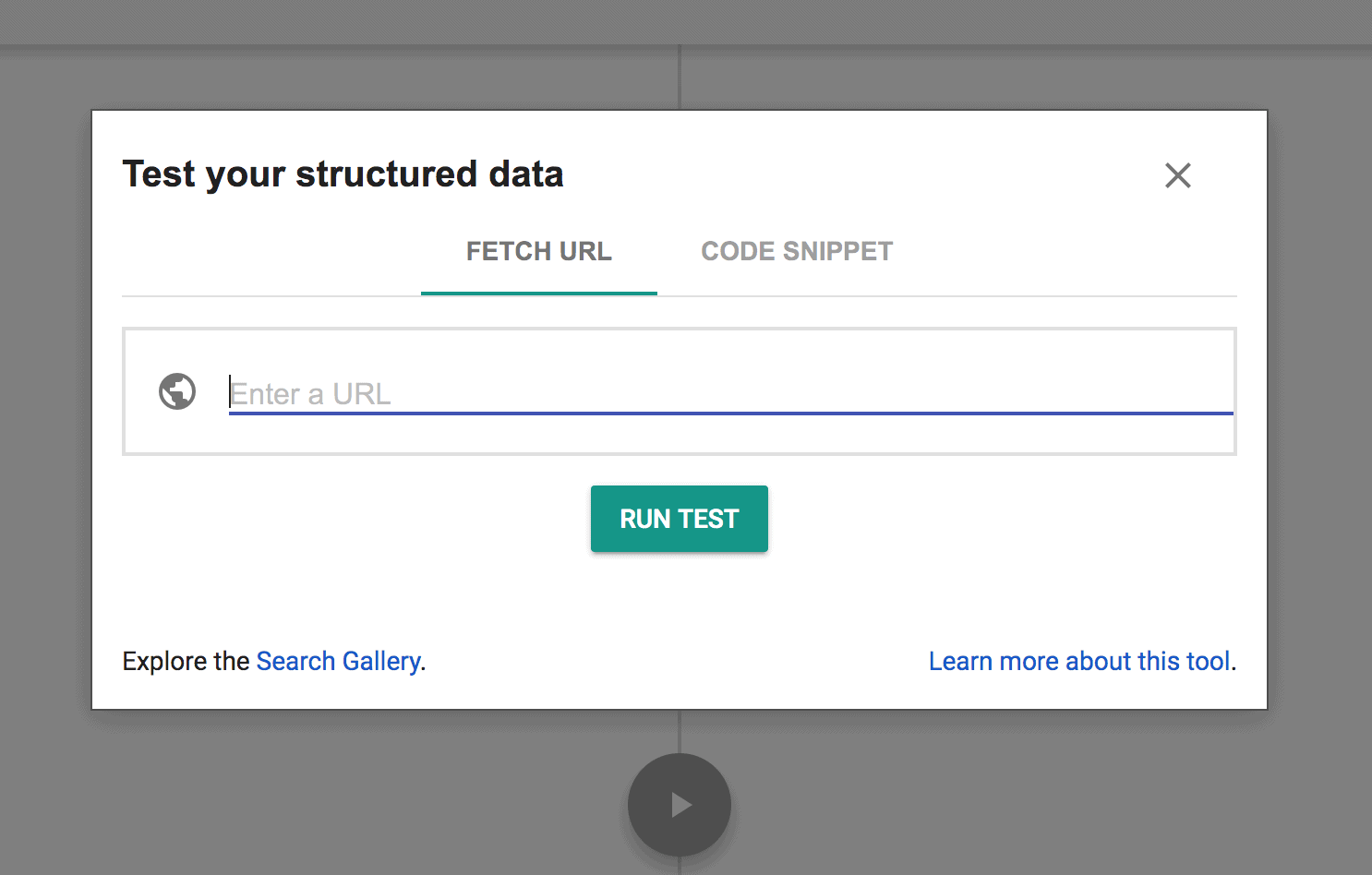 Google Structured Data Testing Tool Sample Dashboard