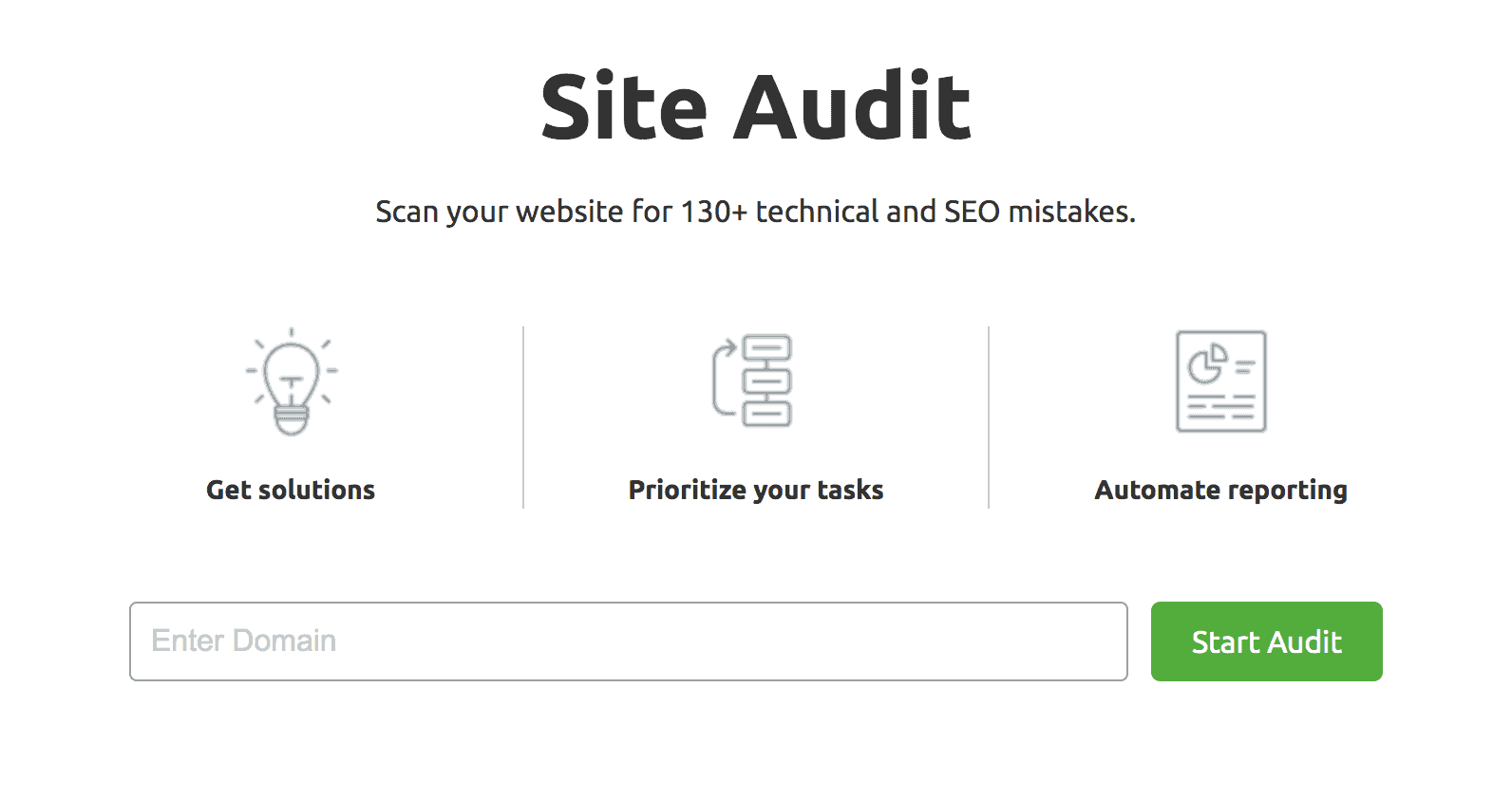 SEMrush-Site Audit Landing Page Snippet