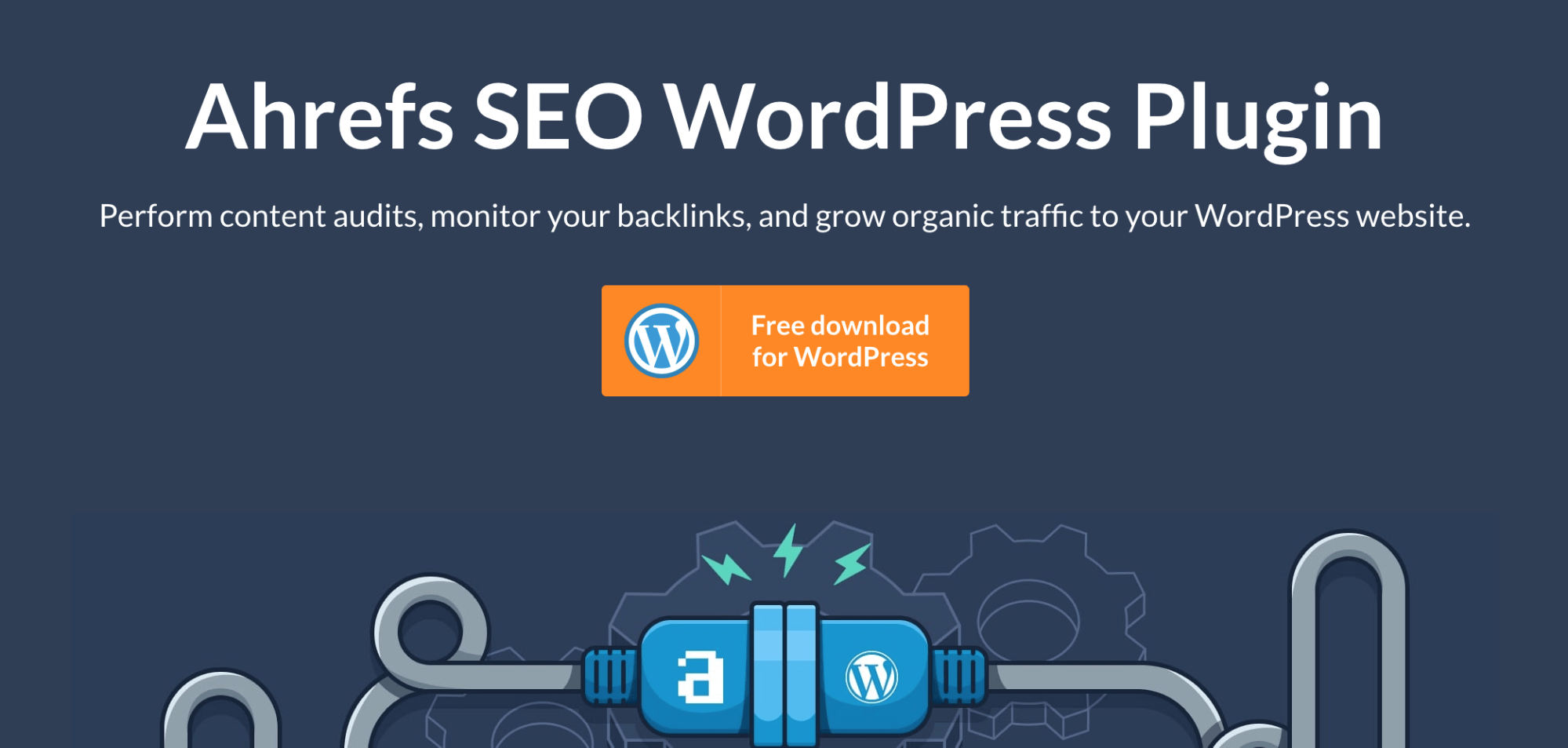 Ahrefs WordPress SEO Plugin Landing Page Snippet