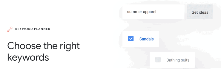 Google Adwords Keyword Planner Homepage Snippet - Best SEO Keyword Research Tools