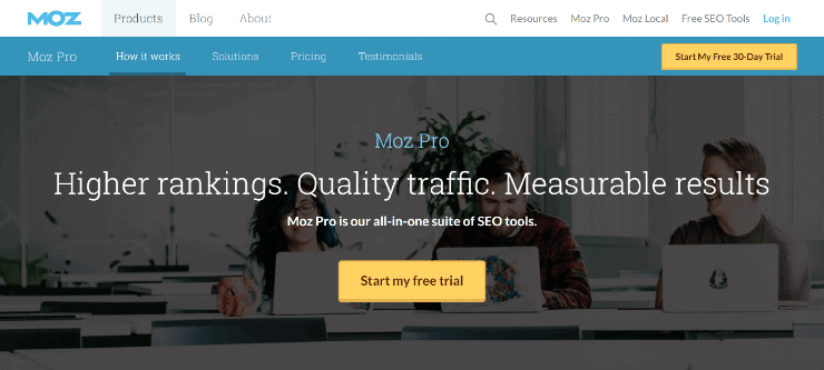 Moz Homepage Snippet - Free and Paid Ahrefs Alternatives